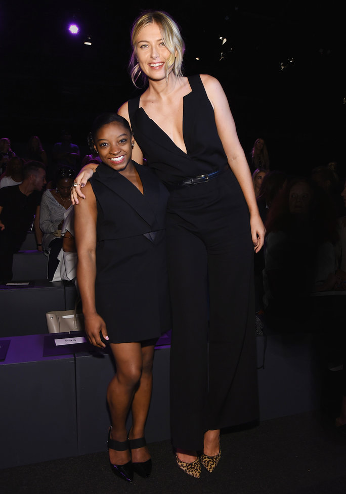 Simone Biles and Maria Sharapova Show Off Their Unbelievable Height Difference at NYFW