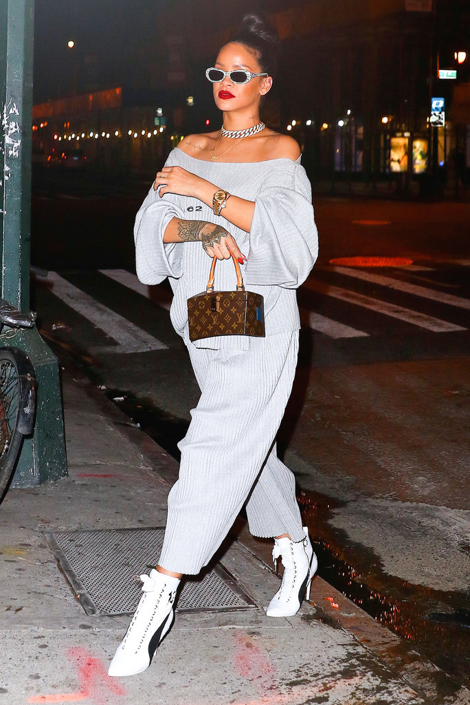 Rihanna Hits an N.Y.C. Club in a Pleated Look That We Can't Get Enough Of