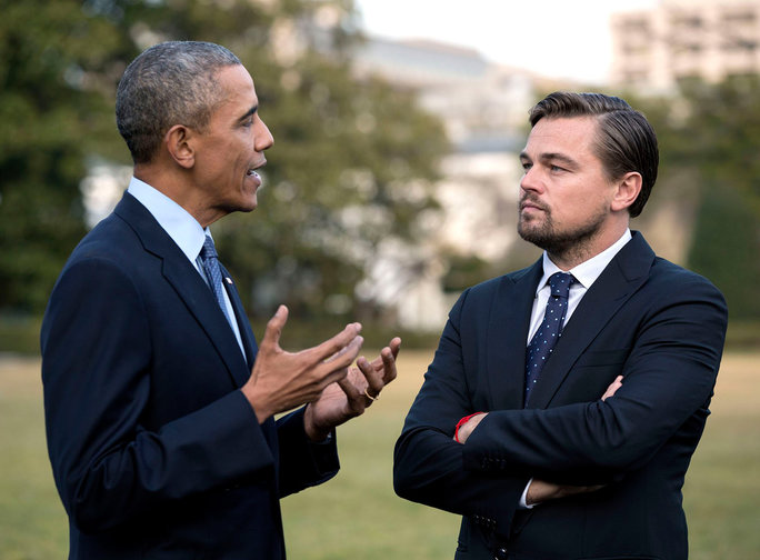 Leonardo DiCaprio and President Obama - Lead