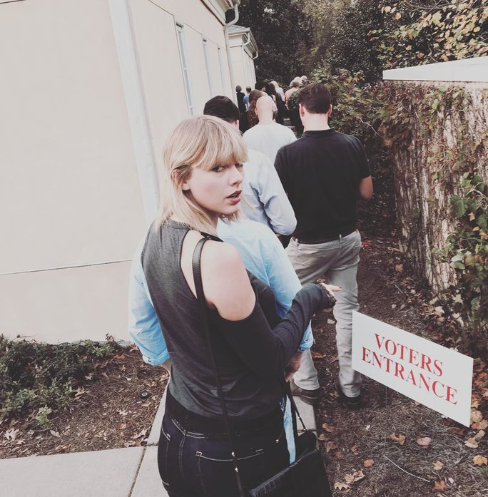 Here's Where You Can Buy the $88 Top That Taylor Swift Wore to Vote