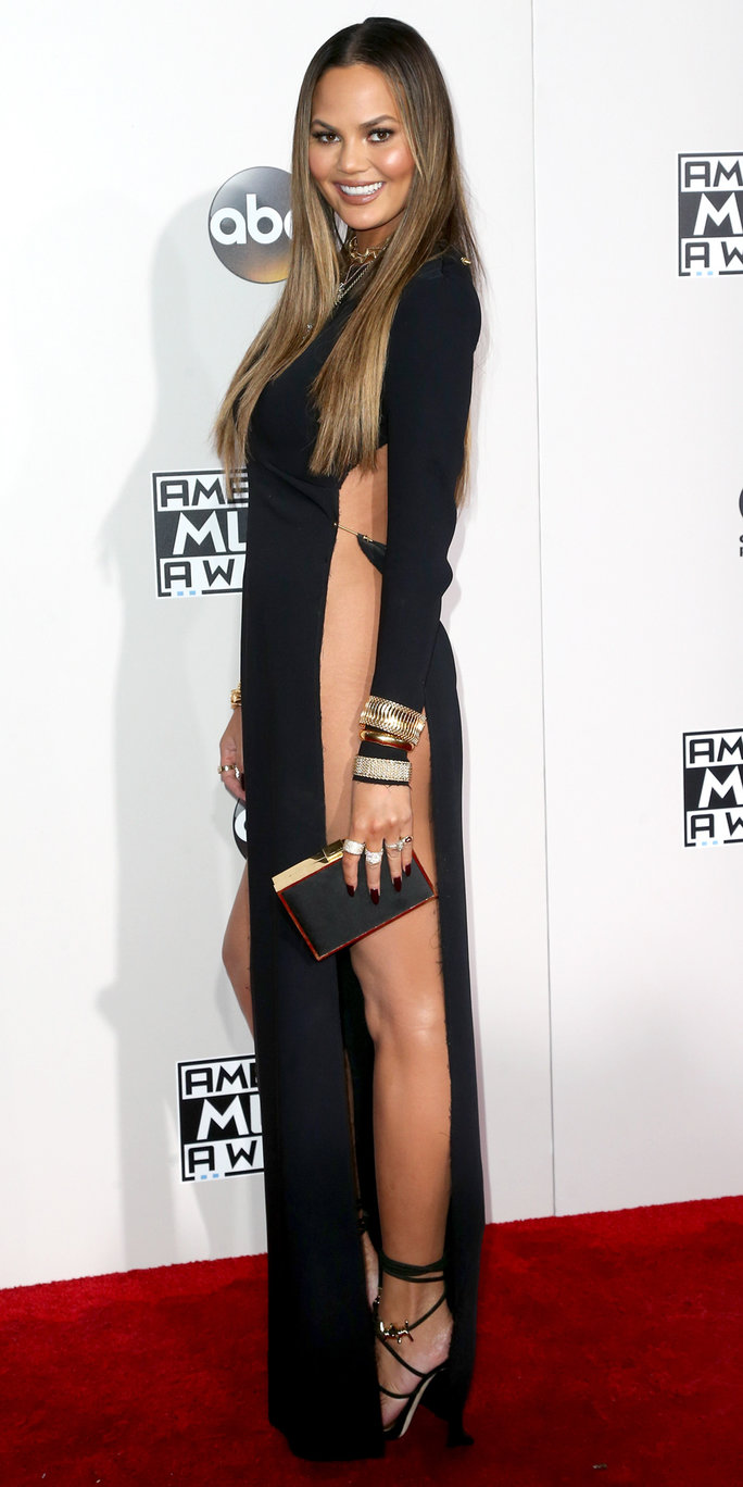 Chrissy Teigen Took Home the Award for Most Naked Dress at the ...