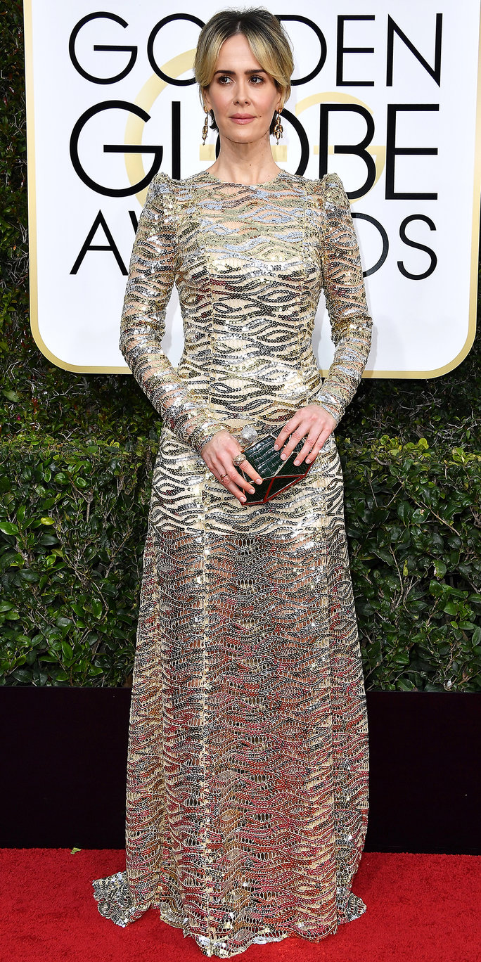 <p>Sarah Paulson in Marc Jacobs</p>