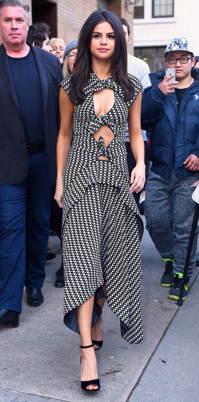 Selena Gomez Makes a Cutout Dress Look Classy