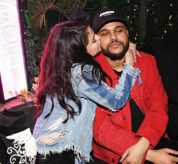 <p>Selena Gomez and The Weekend</p>