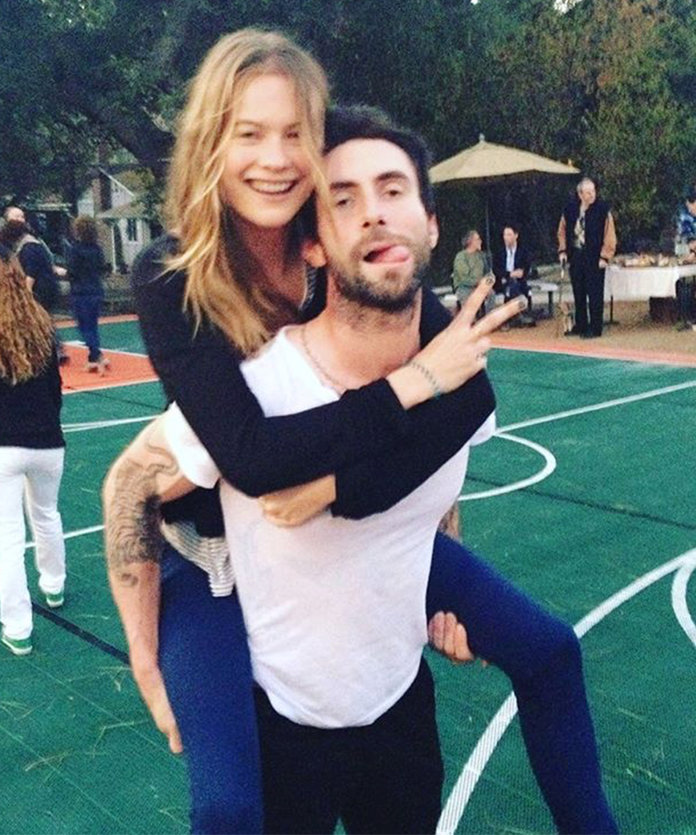 Photographic Evidence that Birthday Boy Adam Levine and Behati Prinsloo Are the Cutest Couple