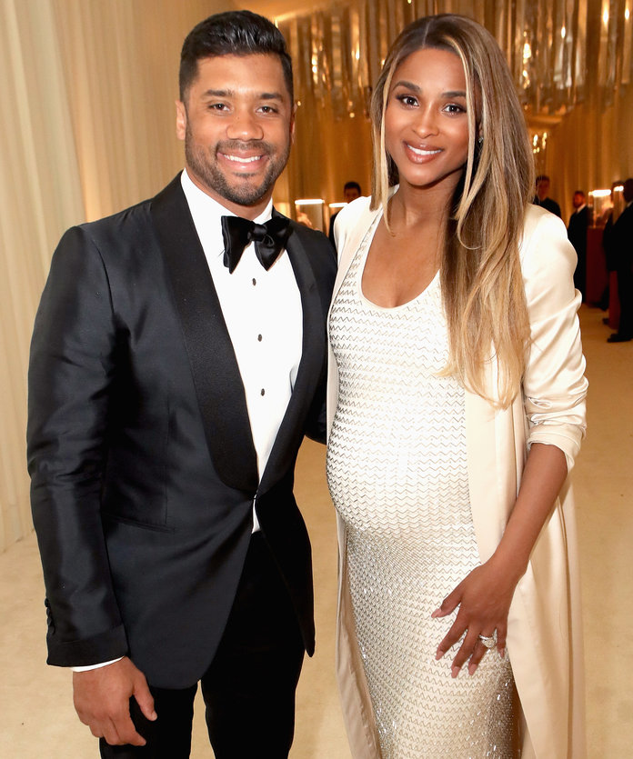 <p>Russell Wilson and Ciara</p>
