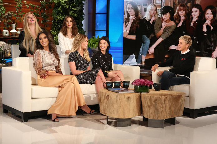<p>Ashley Benson, Lucy Hale, Sasha Pieterse, Shay Mitchell, and Troian Bellisario</p>