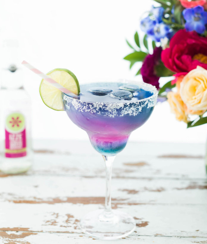 Watch This Unicorn Margarita Change Colors Right Before Your Eyes