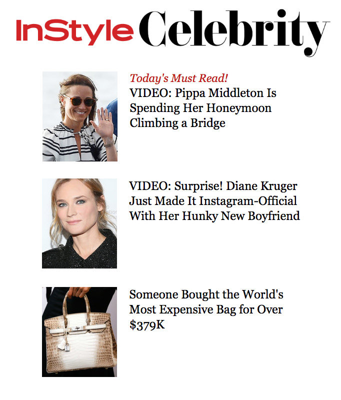 InStyle Celebrity Newsletter