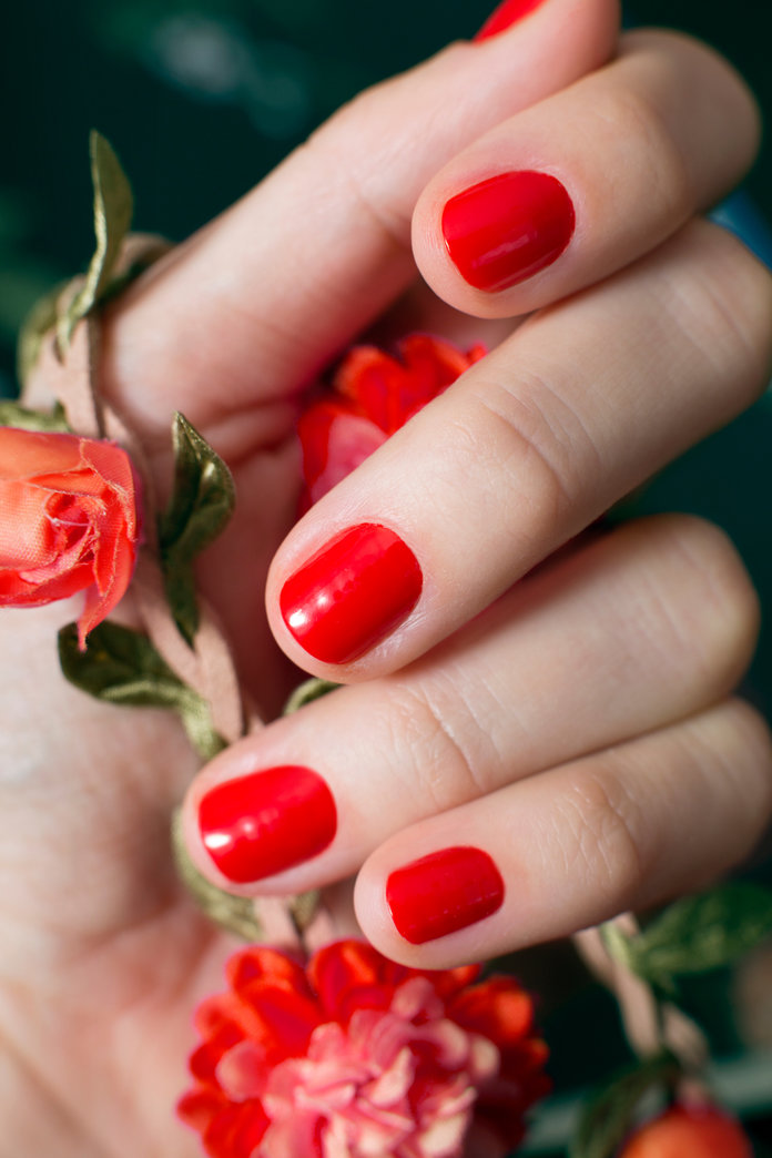 <p>Favorite Red Nail Polishes</p>