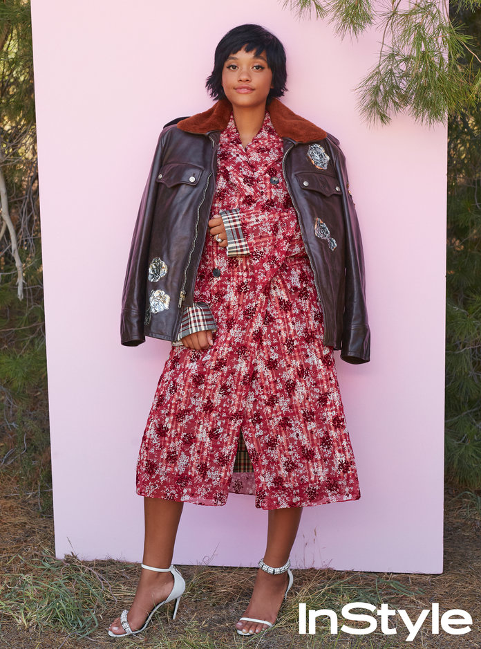 How to Rock Fall Florals à la Kiersey Clemons in Our September Issue