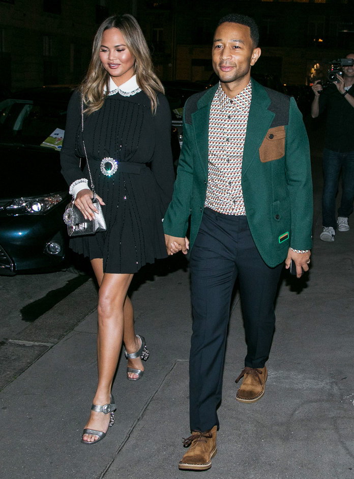 Chrissy Teigen's Parisian Style Was All About A MAJOR Belt - Shop It Here