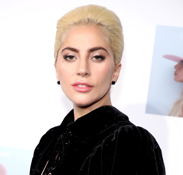 Lady Gaga goes zip-lining upside down
