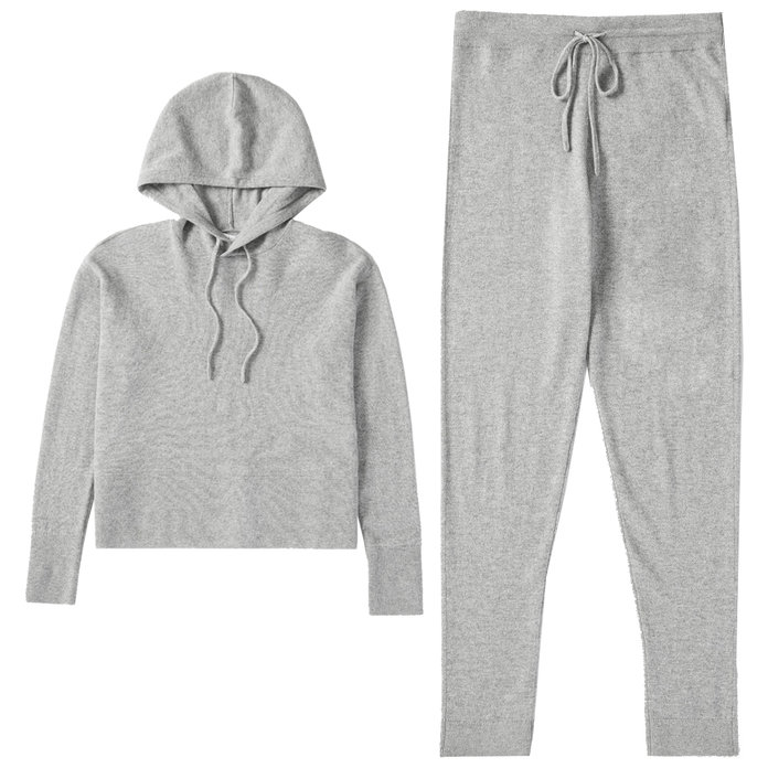 Everlane, The Cashmere Square Hoodie & The Cashmere Sweatpant