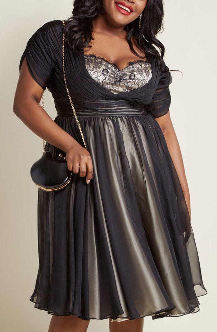 <p>Iconic Elegance Fit and Flare Dress by ModCloth</p>