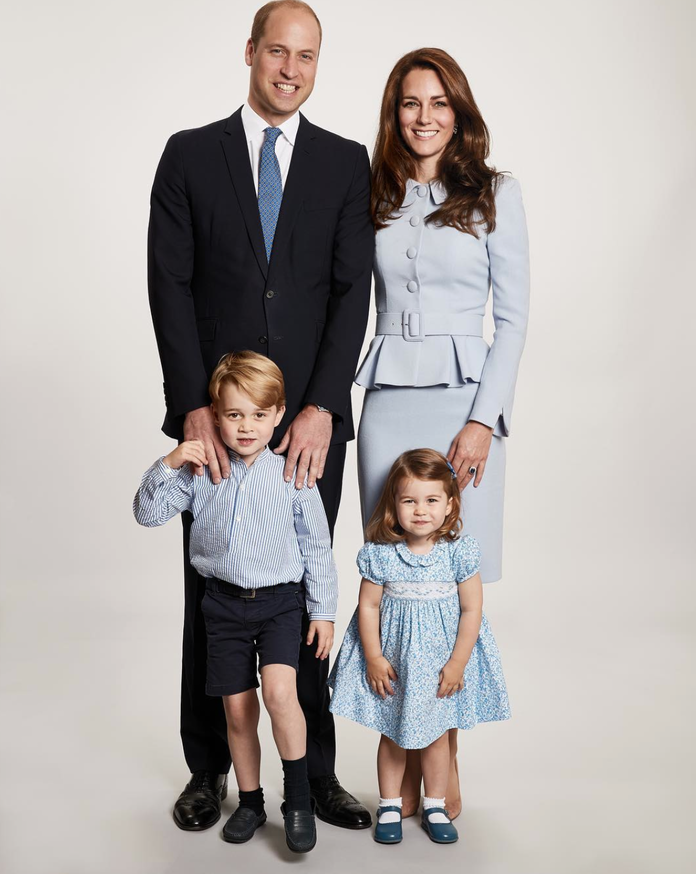 <p>The Duke and Duchess of Cambridge, Prince George, and Princess Charlotte, 2017</p>