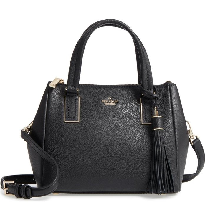 Kate Spade New York stewart street - samira textile & leather top handle satchel