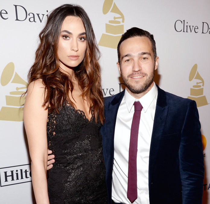 <p>Pete Wentz and Meagan Camper</p>