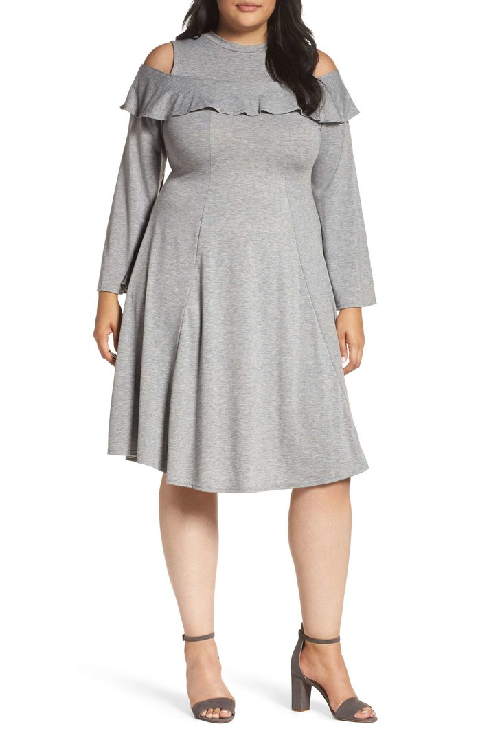 Lost Ink Jersey Fit & Flare Dress