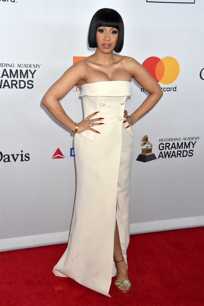 It Took 150 Hours To Create Cardi B S Grammy Dresses So
