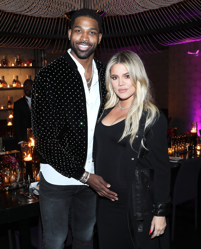 <p>Khloe Kardashian and Tristan Thompson</p>