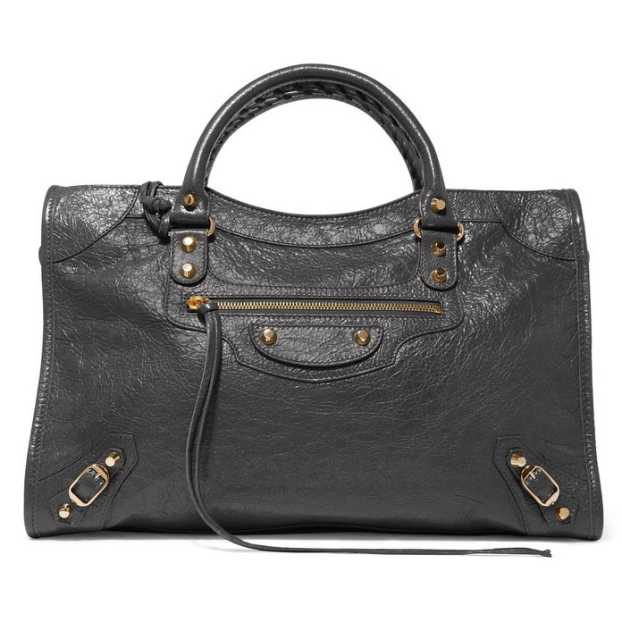 <p>Classic City textured-leather tote</p>