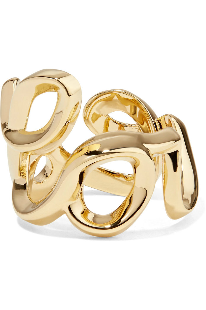 Love gold-tone ring