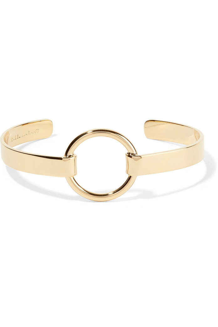 <p>Nirvana gold-plated cuff</p>