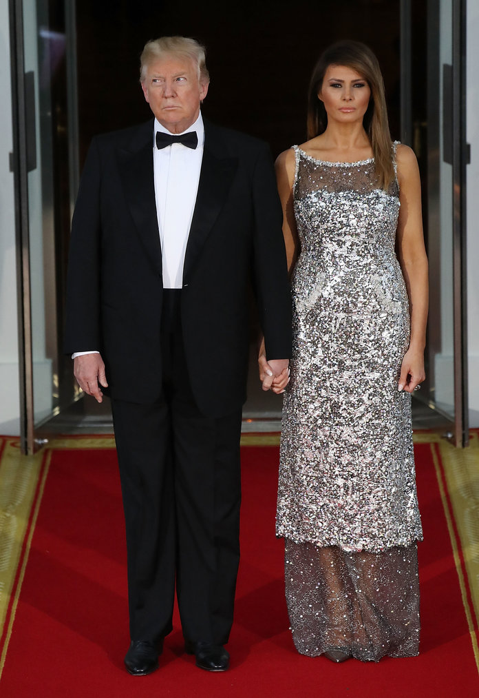 President Trump And First Lady Hosts State Dinner For French President Macron And Mrs. Macron
