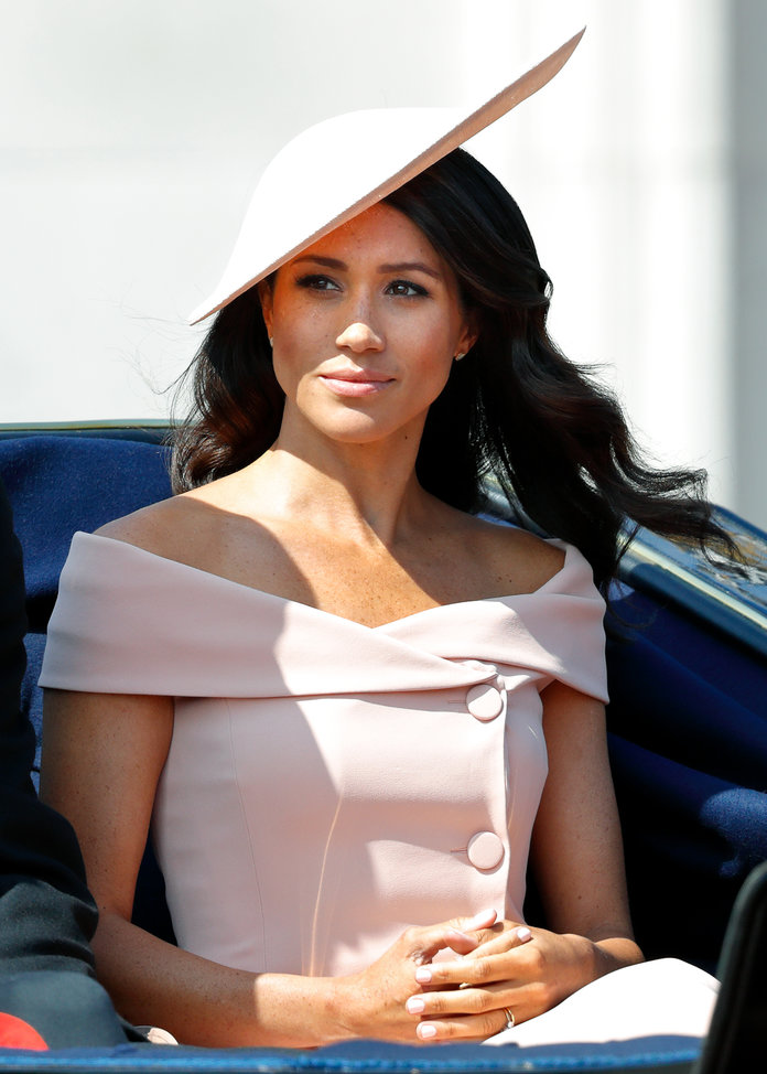 Meghan Markle wearing blush lead