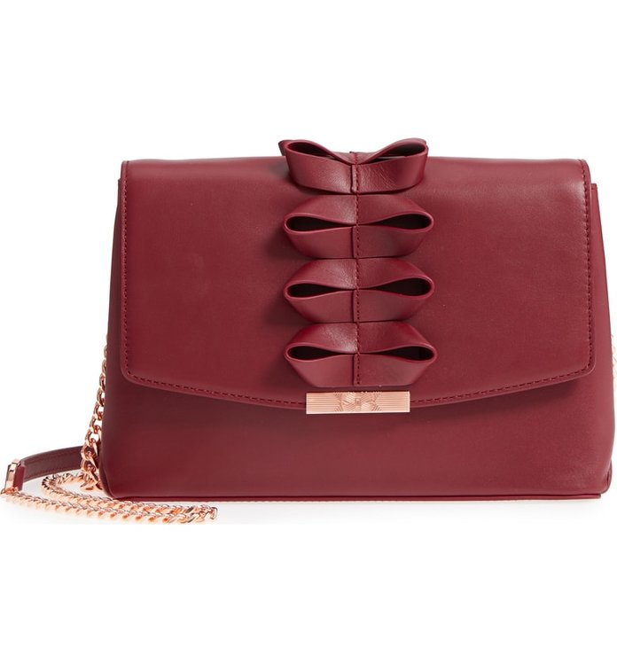 Best Shoulder Bag  Ted Baker Looped Bow Leather Bag 31004c46a8