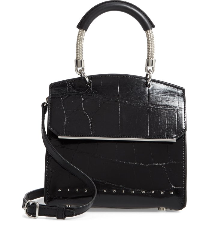 Best Structured Bag: Alexander Wang Mini Dime Leather Satchel