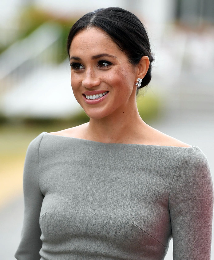 Meghan Markle Attends Sentebale Polo Cup in Carolina Herrera Dress
