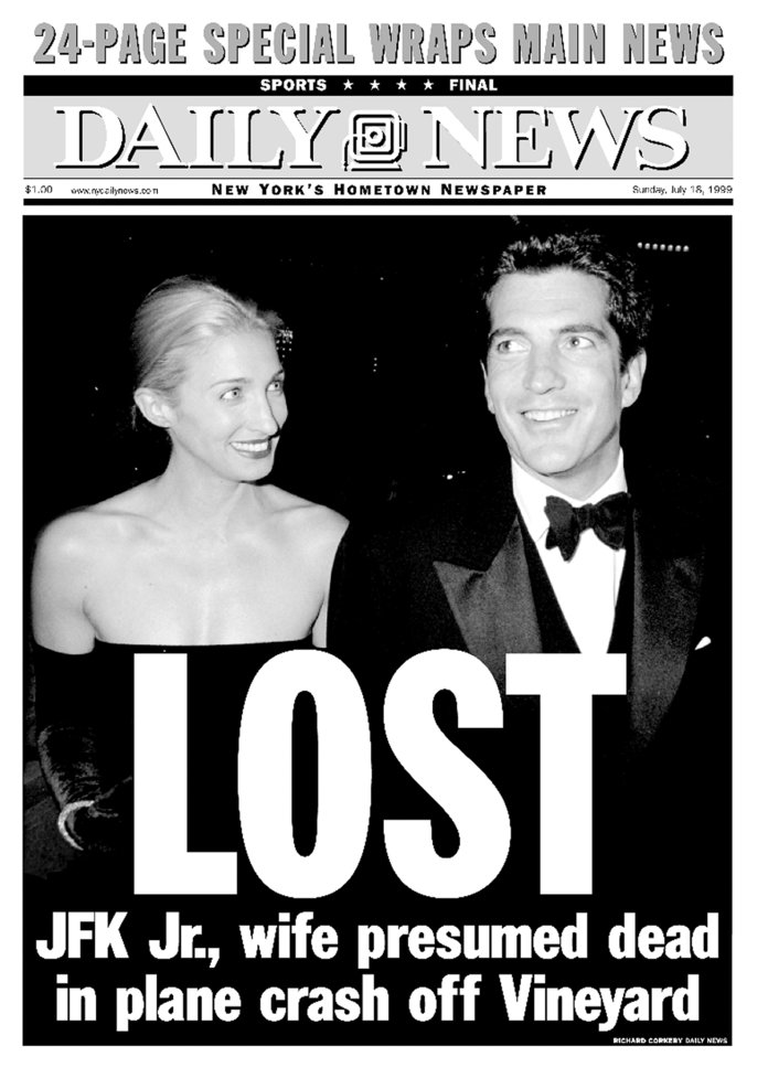 Front page of the Daily News dated July 18, 1999, Headline: