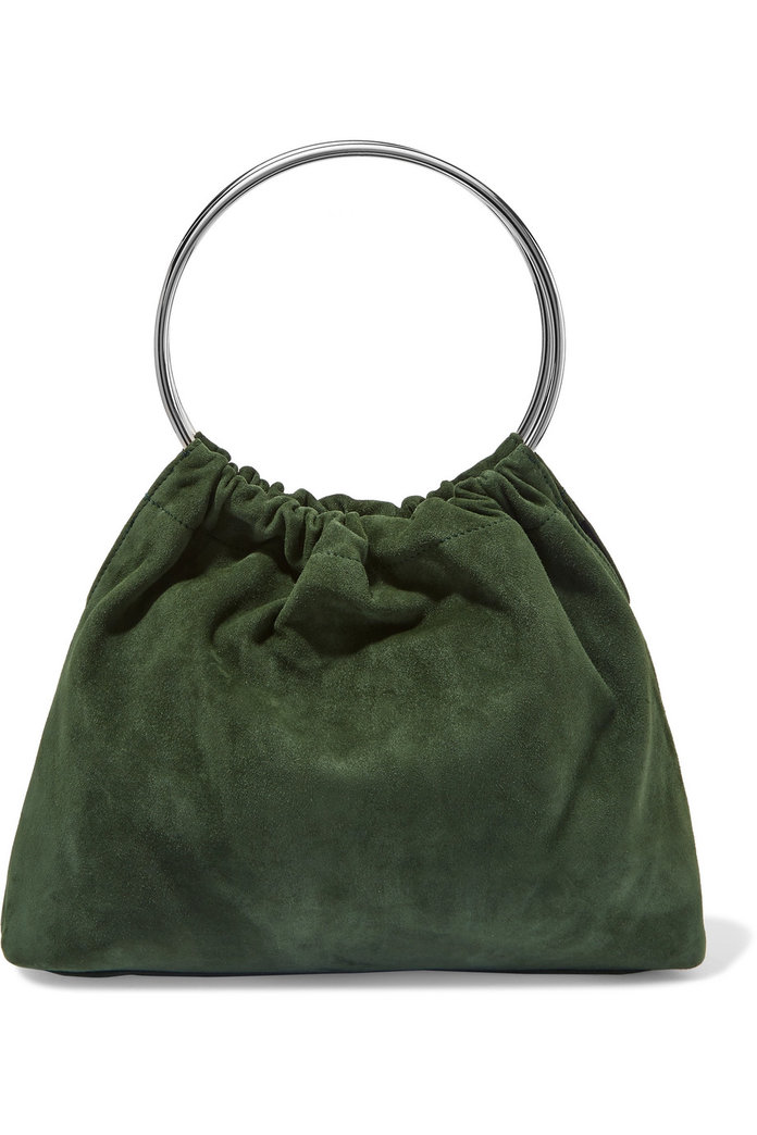 Little Liffner D Tiny Box satin shoulder bag