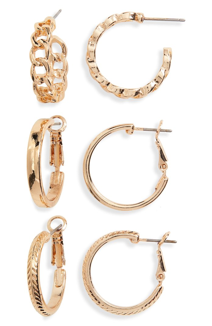 BP 3-Pack Small Hoop Earrings