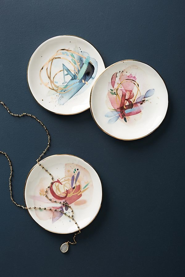 Anthropologie Monogram Trinket Dish