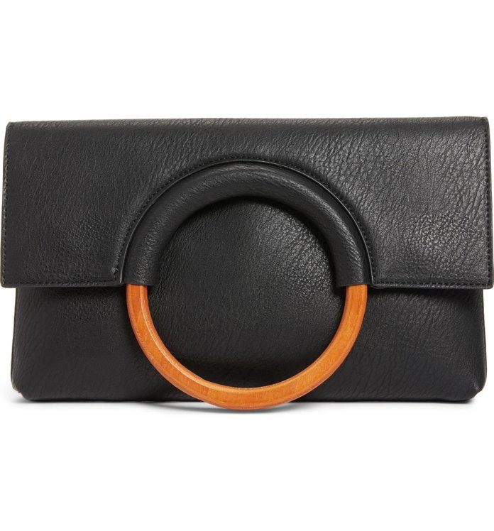 dc1a8a5fbe Best Affordable Find  BP Faux Leather Circle Clutch