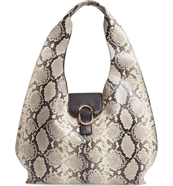 Best Hobo Bag: Topshop Haya Faux Snakeskin Hobo Bag