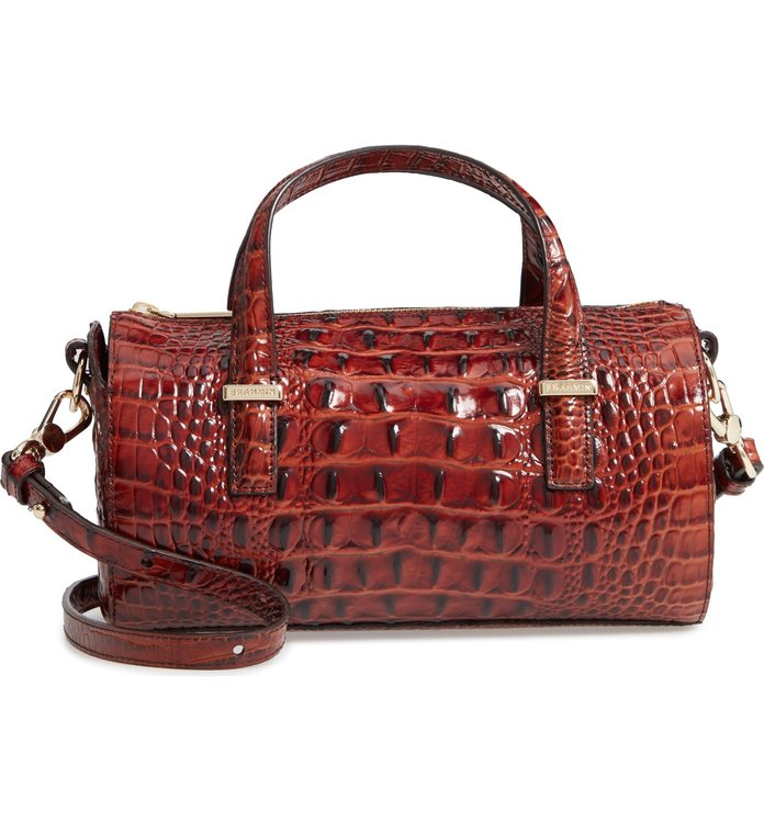Best Faux Croc Bag: Brahmin Claire Croc Embossed Leather Top Handle Bag