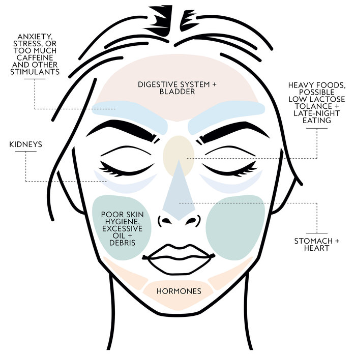 What Is Face Mapping? - Causes of Acne   InStyle.com