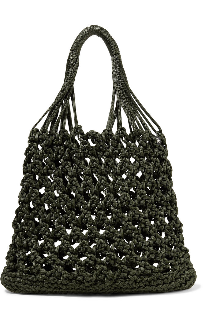 Best Travel Bag: Nannacay + NET SUSTAIN Astri Macramé Tote