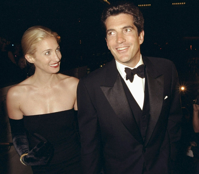 John F. Kennedy Jr. and his wife, Carolyn Bessette Kennedy,