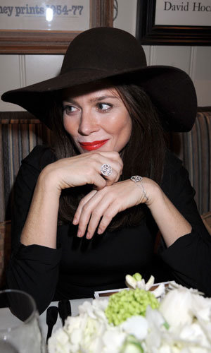 Anna Friel went 70s chic at the De Beers pre-BAFTA film and jewellery lunch