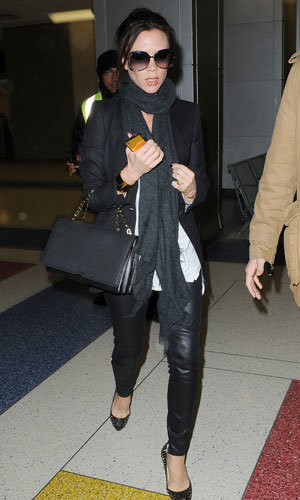 Victoria Beckham shows off her new collection as she heads to New York Fashion Week