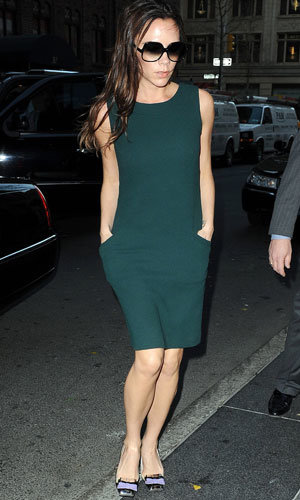 Business as usual for pregnant Victoria Beckham as she prepares for Fashion Week!