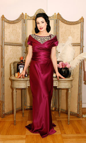 Dita Von Teese hosts a night of cocktails and confessions