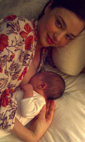 CELEB BABY NEWS: Miranda Kerr and Orlando Bloom introduce their baby son to the world!
