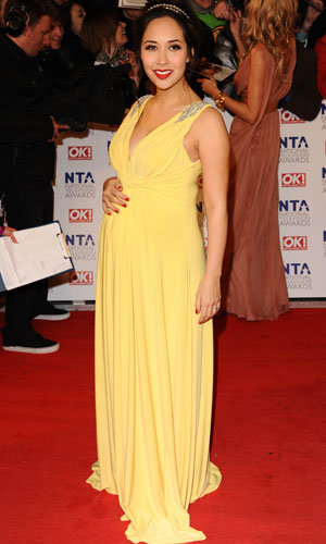 Pregnant celebs Myleene Klass and Holly Willoughby wow at National Television Awards