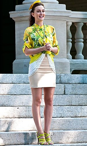 GOSSIP GIRL PICS: Check out Leighton Meester's fruity style...